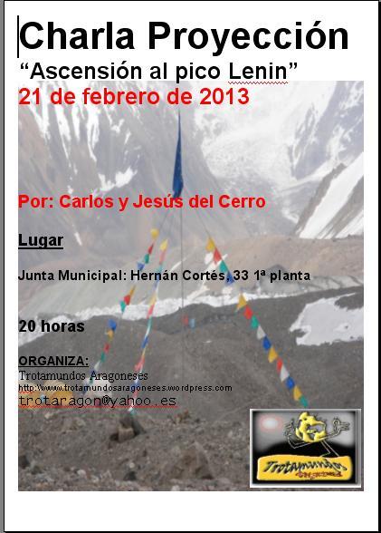 21 febrero Cartel Gemelos Pico Lenin