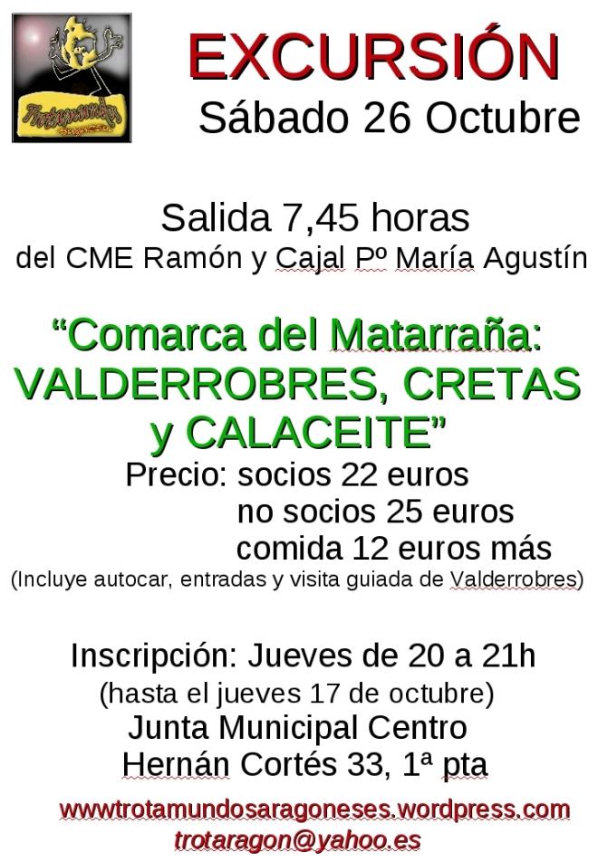 cartel excursión Valderobres