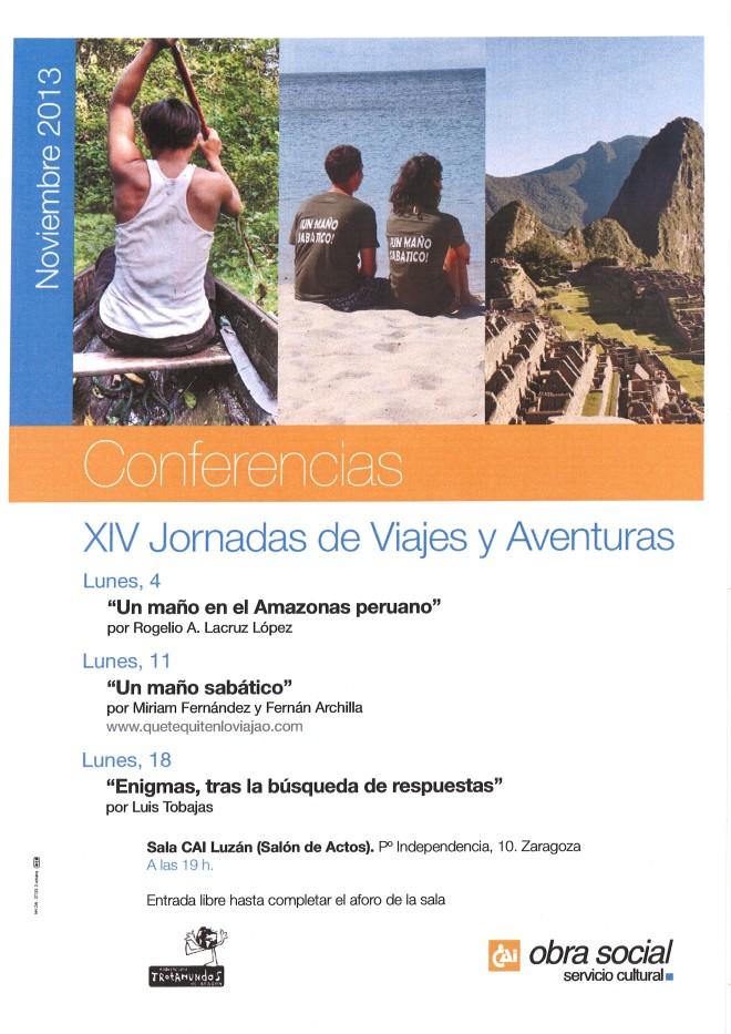 CARTEL XIV JORNADAS DE VIAJES Y AVENTURAS 1