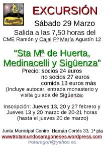cartel excursión Sigüenza 7-2-2014