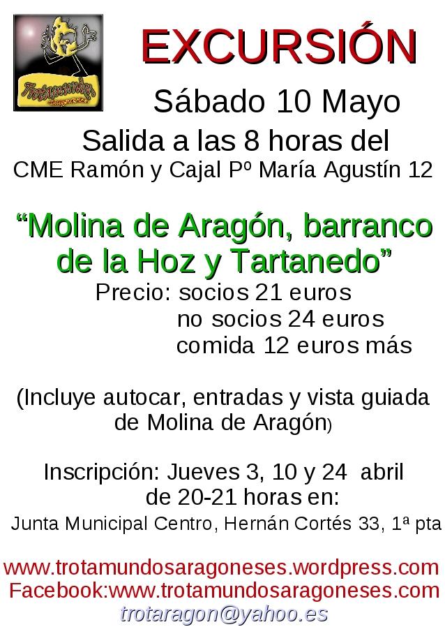 cartel excursión Molina