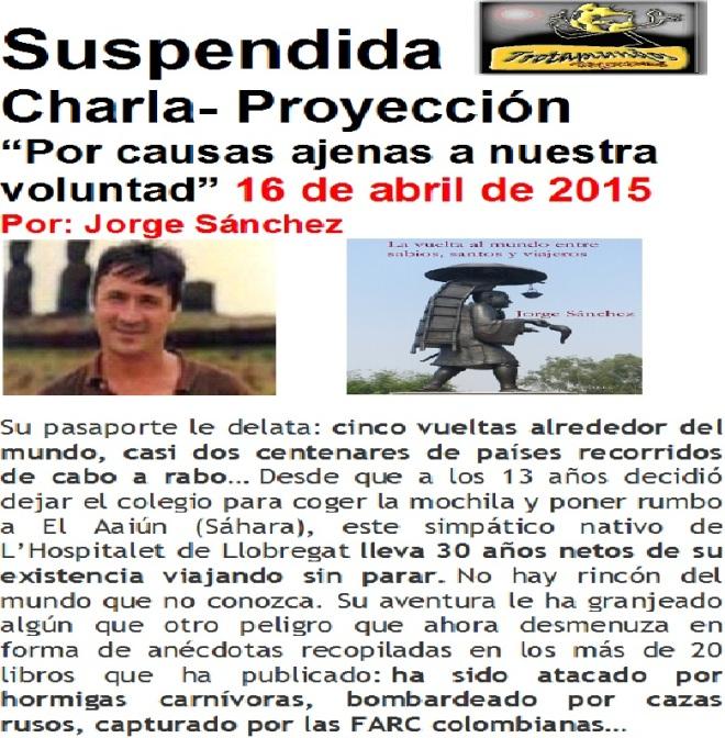 SUSPENDIDA PROYECCION JORGE SANCHEZ