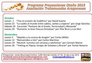 Nuevo cartel programa otoño 2015