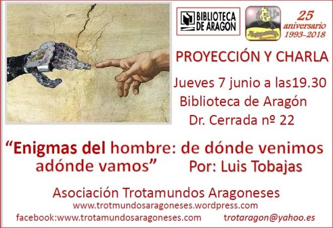 2018 junio Enigmas del hombre Luis Tobajas