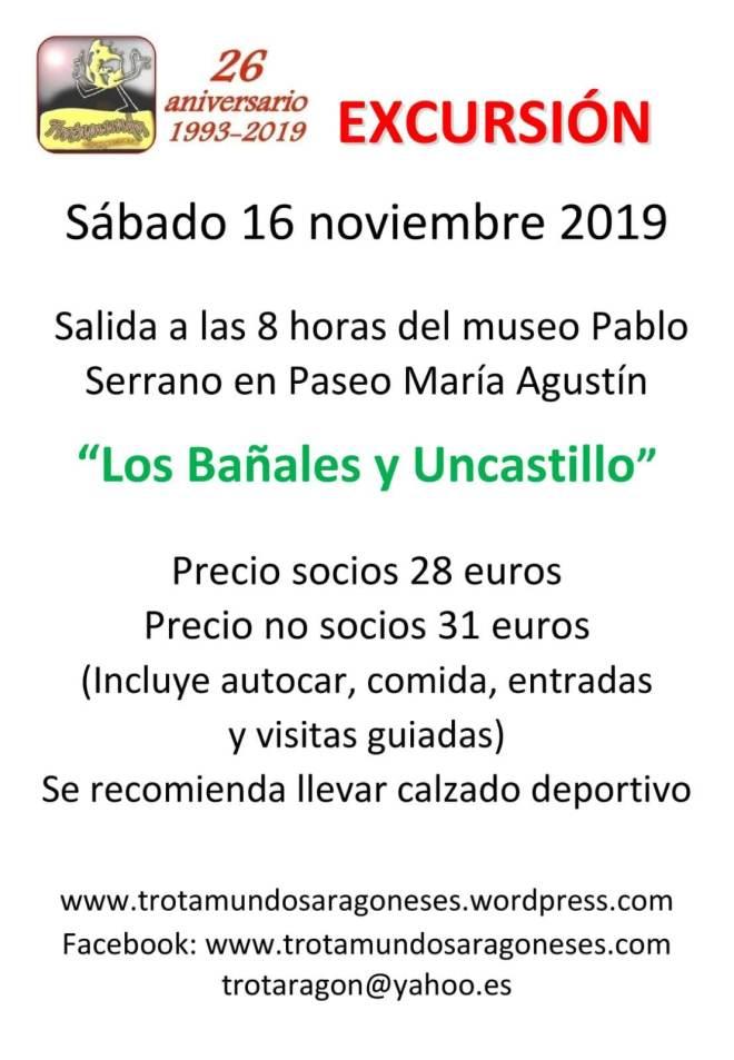 2019 NOVIEMBRE EXCURSION UNCASTILLO+BAÑALES
